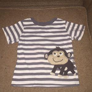 Striped tshirt with monkey